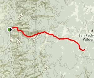 Los Pinos Trail Map