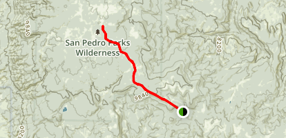 Peñas Negras Trail Map