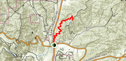 Las Virgenes View Trail Map