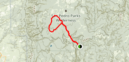 Rito Anastacio and Clear Creek Loop via Palomas Trail Map