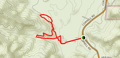 Coyote Canyon Trail to Hacienda Trail Loop Map