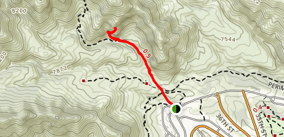 Natural Arch via Old Mitchell Trail Map