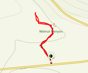 Walnut Canyon Trail Map