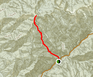 Lobo Peak Via Yerba Canyon Trail Map