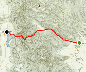 Cimarron Canyon: Cimarron to Eagle Nest Scenic Drive Map