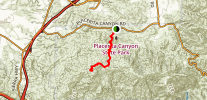 Los Pinetos Trail Map