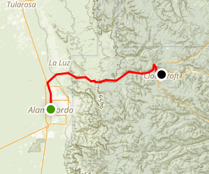 Couldcroft: Alamogordo to Cloudcroft Map