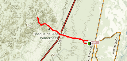 Chupadera Wilderness Trail Map