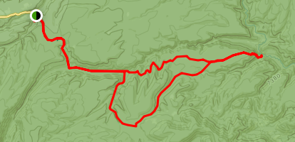 Clayton Mesa Trail Map