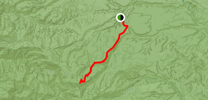 Iron Creek via West Fork Trail Map
