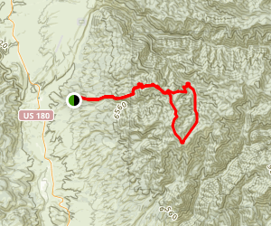 Straight Up Trail and Holt Mountain Loop Map