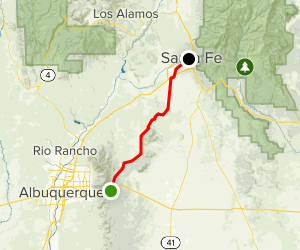 Turquoise Trail National Scenic Byway Map