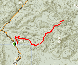 Black Peak Via Continental Divide Trail Map
