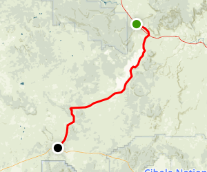 Grants to Quemado Scenic Drive Map