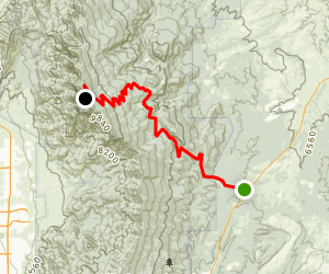 Sandia Crest Scenic Byway: San Antonito to Sandia Crest Map