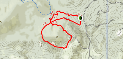 Pinon Trail and Angel Loop Trail Map