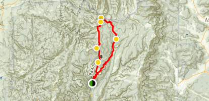 North Truchas Peak Backpacking Trip Map