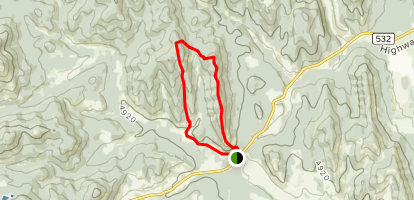 Indian Graves Ridge and Willow Ridge Trail Map