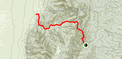Ojito Trail Via Cerro Blanco Trail Map