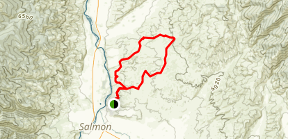 Slough-Slump Gulch Loop Map