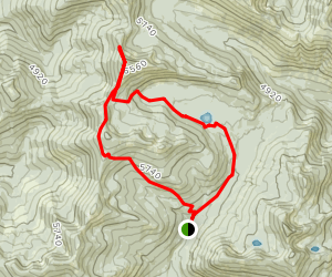 Lake Darling and Mount Pend Oreille Loop Map