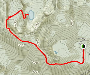Myrtle Peak to Myrtle Lake Map
