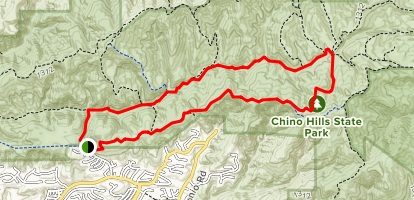 Bovinian Delight Trail and Telegraph Canyon Map