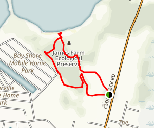 James Farm Ecological Preserve Loop Trail Map