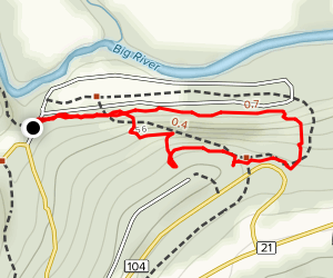 1000 steps trail Map