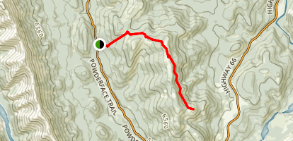 Powderface Creek Trail to Powderface Ridge Map
