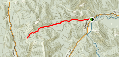 Powderface Creek Trail from the Elbow River Map