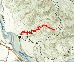 Sidewinder Trail to Stinking Springs Map