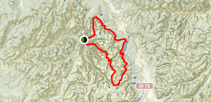 Grand Sawtooths Loop Map