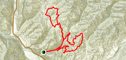 Wagonhammer - Elk Trail Loop Map