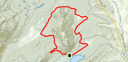 Elk Mountain Trail Map