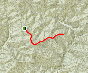 Arid Peak Via Slate Creek Divide Map
