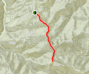 Cedar Mountain Via Slate Creek Divide Map