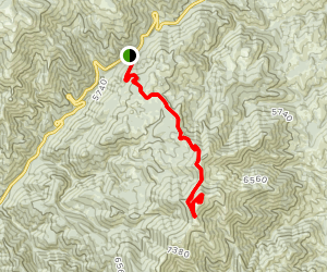 Mores Creek Summit to Sunset Mountain Map
