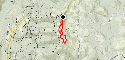 Brundage Mountain Lookout Tower Loop Map