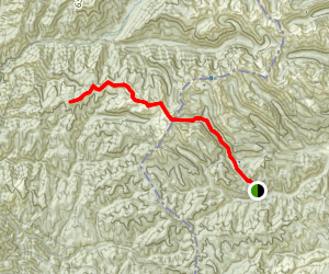Watchtower Creek to Burnt Strip Mountain  Map