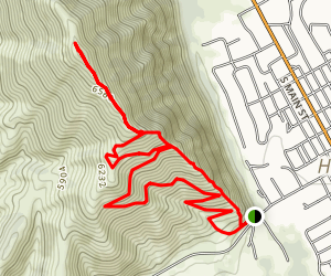 Carbonate Mountain Trail Map