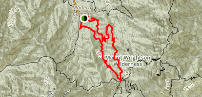 Josephine Saddle via Super Trail Map