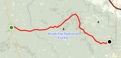 Longleaf Trail Scenic Byway Map