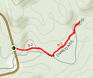 Charco Azul Trail Map