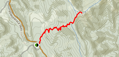 Jumpingpound Summit Trail Map