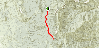 East Fork Scout Mountain Map