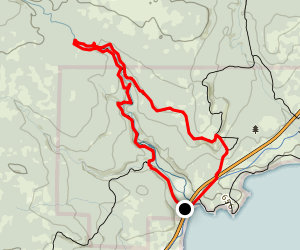 Superior Hiking Trail: Split Rock Ridge Map