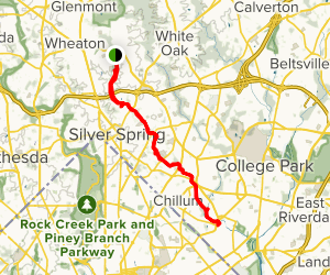 Sligo Creek Trail Map
