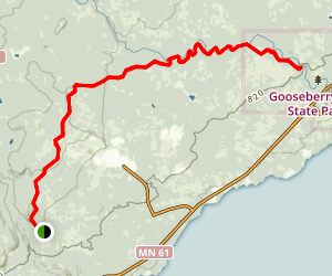 Superior Hiking Trail: Gooseberry River, The Nestor Grade, and Wolf Rock Map