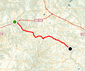 Elroy-Sparta State Trail Map